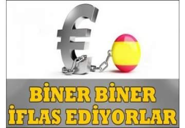 İspanyol şirketler biner biner iflas ediyor